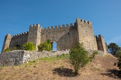 Äußeres des Pombal-Schlosses lizenzfreie stockfotos