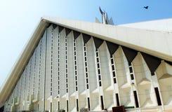 Äußeres Design von Faisals-Moschee stockbild