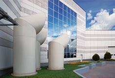Äußeres eines Industriegebäudes Lizenzfreie Stockfotos