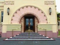 Äußeres eines Kunst-Deco Gebäudes Lizenzfreies Stockbild