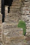 Äußeres Gebäude der Steinschritte in Muker, Swaledale lizenzfreie stockbilder