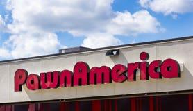 Äußeres und Zeichen PawnAmerica Lizenzfreie Stockfotos