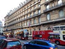 Äußeres Victoria-Hotel in London - Großbritannien Stockbild