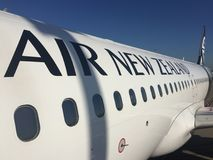 Äußeres von Air New Zealand Airbus A320 lizenzfreie stockfotos