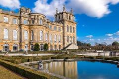 Äußeres von Blenheim-Palast in Oxfordshire, Großbritannien Lizenzfreie Stockfotos