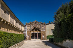 Äußeres von Buontalenti-Grotte auf Boboli-Gärten, Florenz Stockfotografie