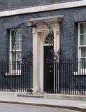 ?u?eres von 10 Downing Street, von Amtssitz und von Amt des Ministerpr?sidenten Gro?britanniens lizenzfreies stockfoto