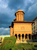Äußeres von Kretzulescu-Kirche in Bukarest Stockfotografie