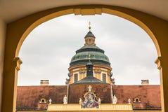 Äußeres von Melk-Abtei in Österreich Stockbilder