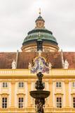 Äußeres von Melk-Abtei in Österreich Stockfotografie