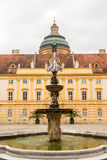 Äußeres von Melk-Abtei in Österreich Lizenzfreies Stockbild