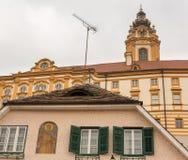 Äußeres von Melk-Abtei in Österreich Lizenzfreie Stockfotografie