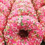 även rader av donuts Royaltyfria Foton