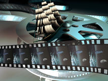 äventyrar film Arkivbild