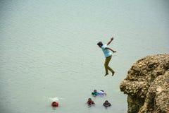 Äventyrligt ställe - Khanpur sjö, Pakistan Royaltyfria Bilder