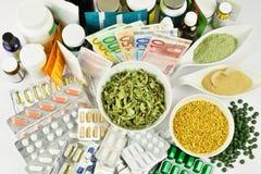 健康营养概念-没有可看见的品牌 免版税库存图片