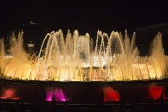 停留的最佳的喷泉在巴塞罗那的中心 库存图片
