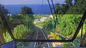 卡普里缆索铁路的电车意大利 股票录像