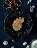 印度人从自然草本和油的Ayurvedic佩兹利肥皂 库存图片