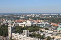 华沙波兰全景  库存照片