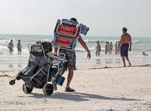 午睡海滩,佛罗里达 最凉快的海滩沙子 免版税图库摄影