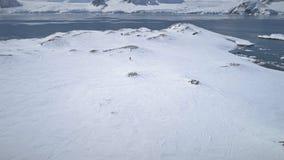 南极洲探险阿德力企鹅企鹅鸟瞰图 影视素材