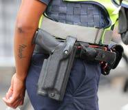 史密斯威森M&P军事和警察半自动手枪 库存图片