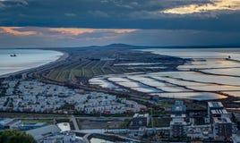 塞特港- Occitanie -法国的lido 库存照片