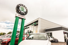 Škoda dealership Stock Image