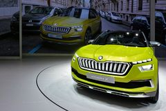 88th Geneva International Motor Show 2018 - Škoda Vision X. Škoda has unveiled the Vision X compact crossover at the 2018 Geneva motor show – its version of Royalty Free Stock Photography