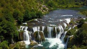 Waterfall - Štrbački buk. Štrbački buk is a 24 m high waterfall on the river Uni near the village of Kulen Vakuf and Orašac, which is located near the Royalty Free Stock Images