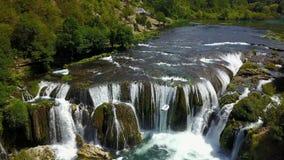 Waterfall - Štrbački buk. Štrbački buk is a 24 m high waterfall on the river Uni near the village of Kulen Vakuf and Orašac, which is located near the Stock Photography