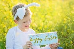 复活节时间的男孩 库存图片