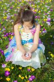 复活节愉快的儿童画象 免版税库存照片