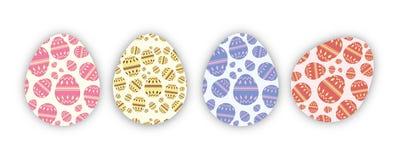复活节的鸡蛋连续 库存例证