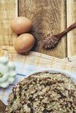 夏南瓜和鸡蛋薄煎饼  库存图片