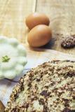夏南瓜和鸡蛋薄煎饼  免版税库存图片