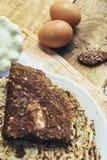 夏南瓜和鸡蛋薄煎饼  图库摄影