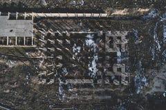 大厦被毁坏的老 免版税图库摄影
