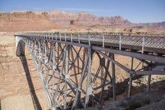 大理石峡谷利斯轮渡桥梁 免版税库存照片
