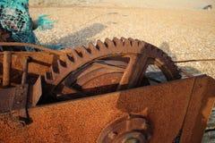 大生锈的嵌齿轮 图库摄影