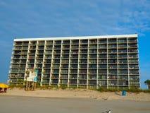 大西洋海岸线的历史的汽车旅馆在卡罗来纳州海滩 免版税库存图片