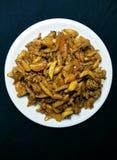大蒜和姜腌汁 免版税图库摄影