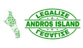 大麻离开马赛克巴哈马地图安德罗斯海岛与合法化难看的东西邮票封印 皇族释放例证