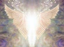 天使轻是飘渺背景 库存例证