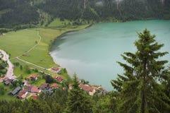 奥地利阿尔卑斯,绿色湖 库存图片