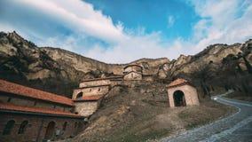姆茨赫塔,乔治亚 志夫Mgvime修道院 圣洁的贞女上部教会或Theotokos,中世纪修道士的中央部分 股票录像