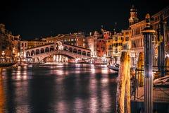 威尼斯大石桥的桥梁在威尼斯意大利 免版税库存照片