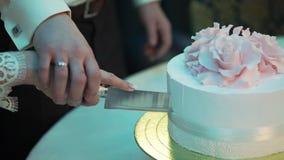 婚礼庆祝蛋糕 股票视频