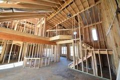 家庭建筑内部构筑与顶楼 库存照片